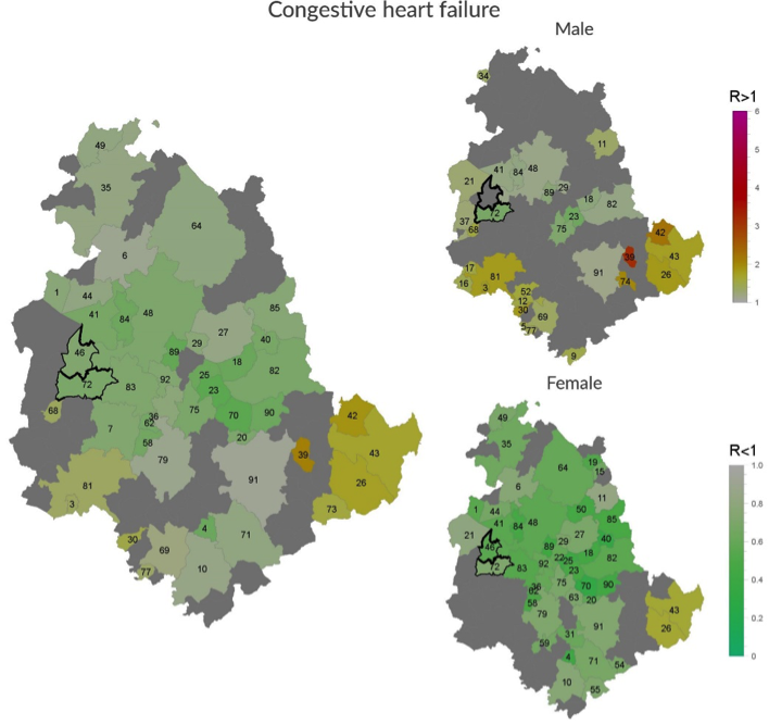 Incidence of congestive heart failure in Umbria Region